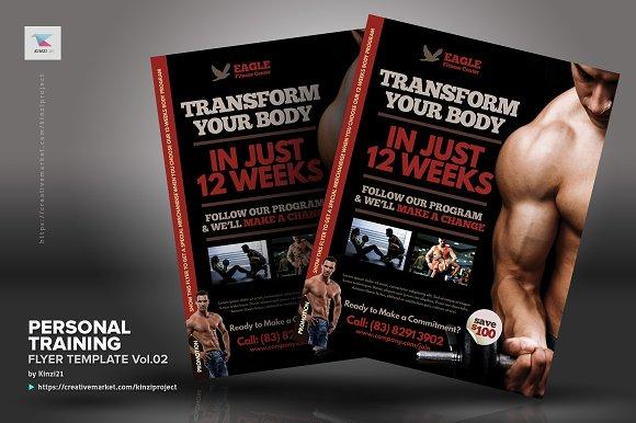 personal training flyer vol02 flyer templates creative market