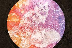 Vintage Acrylic Kittens