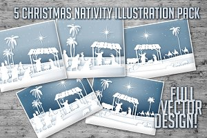 Christmas Nativity Illustrations
