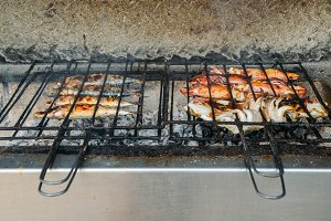 Grilled salty mackerel fish