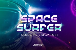 60 % OFF- SpaceSurfer Display Font