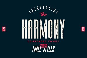 The Harmony - Condensed font family