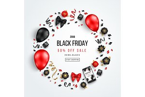 Black Friday Circle Frame
