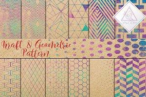 Kraft Paper & Geometric Pattern
