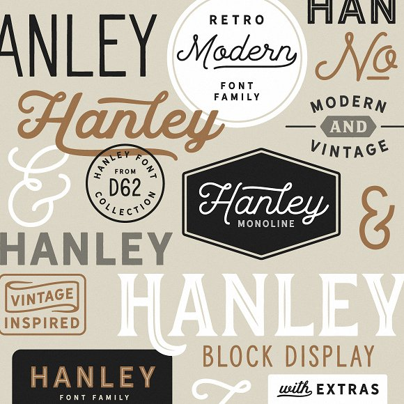 Hanley Font Collection in Script Fonts - product preview 26