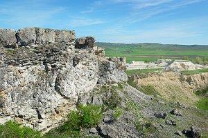Abandoned quarry for limestone minin