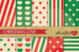 -20% Retro Christmas Backdrop Paper