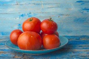 Red  natural tomatoes organic farmin