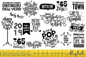 New Years 2019 SVG Cut File Bundle
