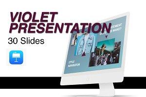 Violet Presentation Template
