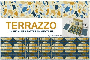 Terrazzo Seamless Patterns and Tiles