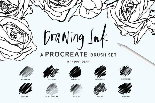 Procreate Ink brushes , set of 36 ~ Procreate Brushes ~ Creative Market