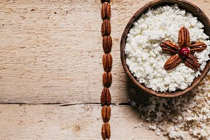 farmer cottage cheese with pecan