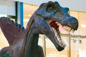 dinosaur with open mouth mock