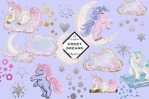 Cute Unicorn Clipart Graphics