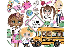 Cute Back to School Clipart Graphics