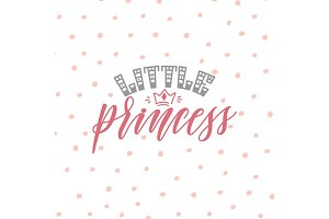 little princess hand lettering