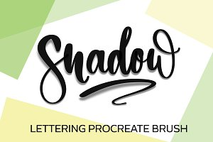 Shadow Lettering Procreate Brush