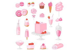 Pink food vector pinkish cake with