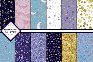 Unicorn Glitter Digital Patterns