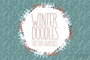Christmas Graphics, Winter Doodles