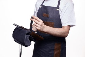 close up  hand, chef uniform using h