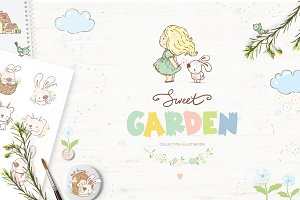Sweet garden illustration