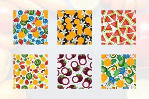 Seamless Pattern Fruit Background