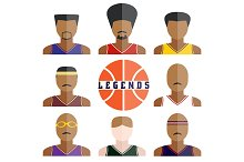 basketball players icons
