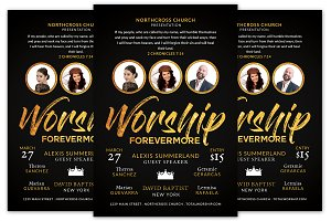 Worship Forevermore Church Flyer