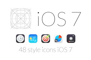 48 style icons iOS 7