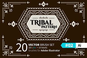 Tribal Pattern Brush #02