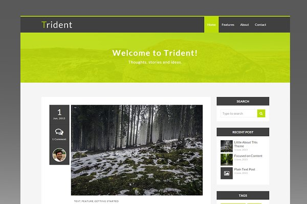 Ghost Themes: GBJ solution - Trident - Minimal Ghost Blog Theme