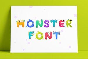 Monster Font - Color Vector Font
