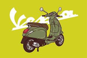 vespa army green