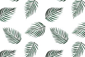 Seamless vector palm tree print