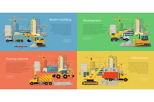 Set of Building and Construction Web