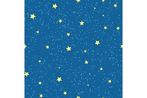 Night Sky with Bright Stars Vector