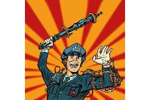 cyberpunk police violence, COP