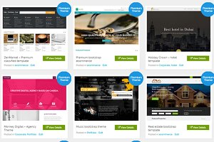 8 bootstrap themes bundle at $30
