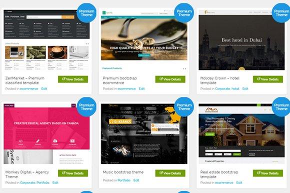 8 bootstrap themes bundle at $30
