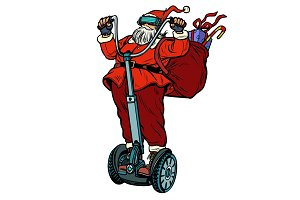 Santa Claus in VR glasses, with