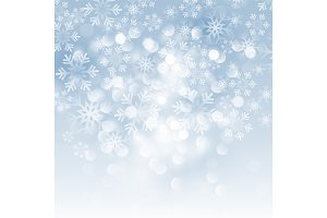 Winter card with snowflakes. Vector