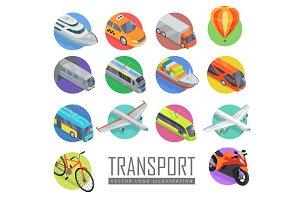 Transport Vector Logo Illustration