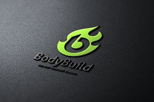 B letter logo - Body Build