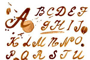 №12 Handwritten font coffee