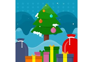 Winter Holidays Vector Concept in