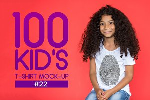 100 Kid's T-Shirt Mock-Up 2018 #22