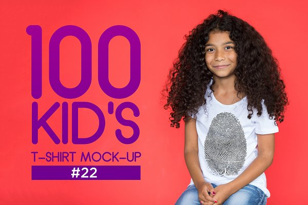 100 Kid's T-Shirt Mock-Up 2018 #22