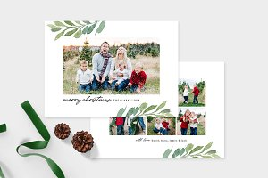 Christmas Photo Card Template -CD099